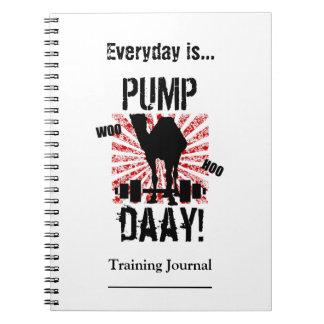 Pump Day Workout Training Journal