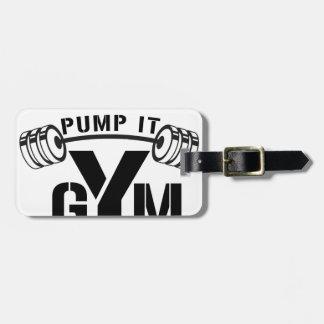 pump it gym luggage tag