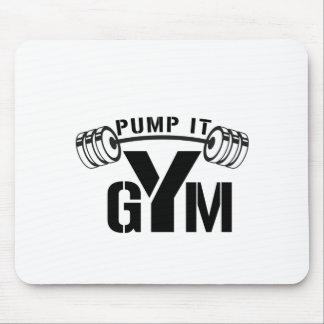 pump it gym mouse pad