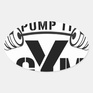 pump it gym oval sticker