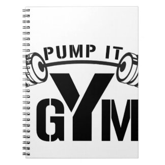 pump it gym spiral notebook