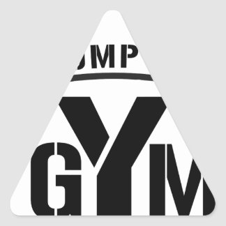 pump it gym triangle sticker