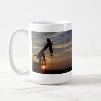 Pump Jack at Sunset. Coffee Mug