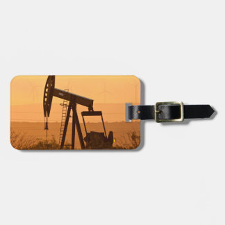 Pump Jack Pumping Oil In West Texas, USA Luggage Tag