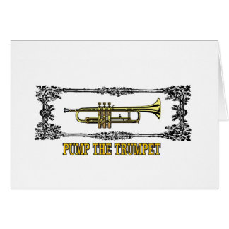 pump the trumpet art card