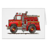 Pumper Rescue Fire Truck Firefighter Greeting Card