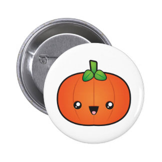 Pumpkin 2 Inch Round Button