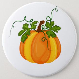 Pumpkin 6 Inch Round Button
