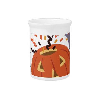 Pumpkin And Bats Drink Pitchers