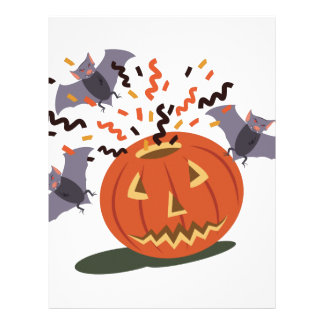 Pumpkin And Bats Personalized Letterhead