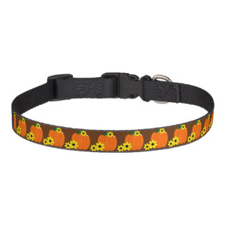 Pumpkin and Black-eyed Susans Pet Collars