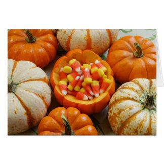 Pumpkin and Candy Corn Card