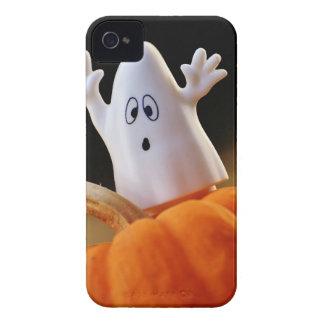 Pumpkin and ghost - funny ghost - orange pumpkin iPhone 4 case