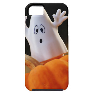 Pumpkin and ghost - funny ghost - orange pumpkin iPhone 5 covers