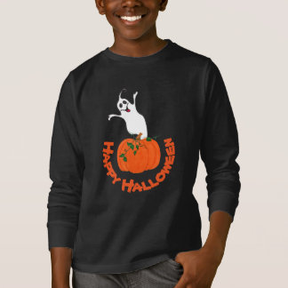 Pumpkin and Ghost - T-shirt