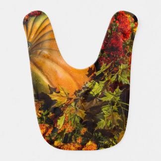 Pumpkin And Mum Arrangement Bib