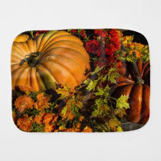 Pumpkin And Mum Arrangement Burp Cloth