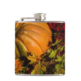 Pumpkin And Mum Arrangement Hip Flask