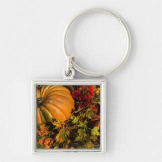Pumpkin And Mum Arrangement Keychain