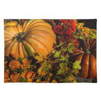 Pumpkin And Mum Arrangement Placemat