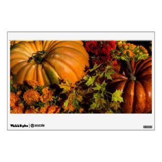 Pumpkin And Mum Arrangement Wall Sticker