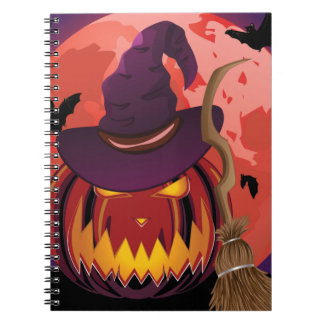 Pumpkin and Red Moon Notebook