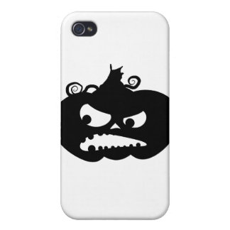Pumpkin Angry iPhone 4 Cover