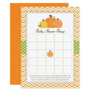 Pumpkin Baby Shower Bingo Card