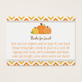 Pumpkin Baby Shower Book Request Card