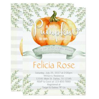 Pumpkin Baby Shower Invitation Invite Fall Boy