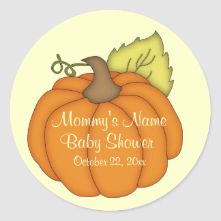 Pumpkin Baby Shower Stickers