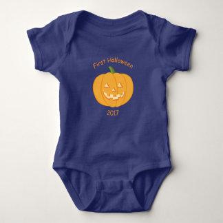 Pumpkin Baby Vest First Halloween Baby Bodysuit
