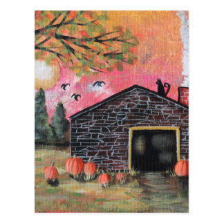 Pumpkin Barn Postcard