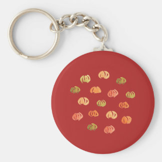 Pumpkin Basic Button Keychain
