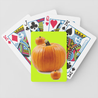 pumpkin bicycle playing cards