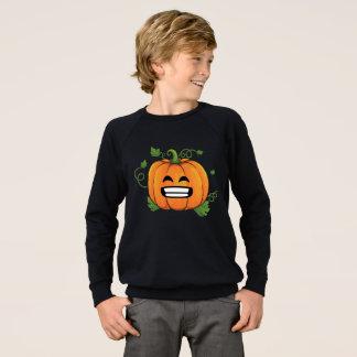 Pumpkin Big Smile Emoji Thanksgiving Halloween Sweatshirt