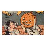 Pumpkin Boy (Vintage Halloween Card) Business Card