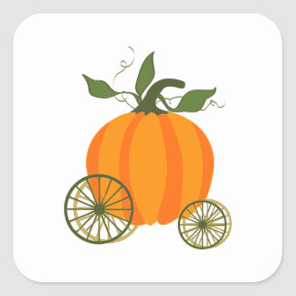 Pumpkin Carriage Square Sticker