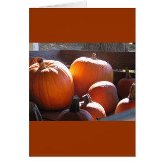 Pumpkin cart card