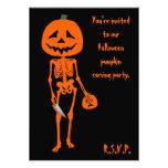 Pumpkin carving Halloween Custom Invites