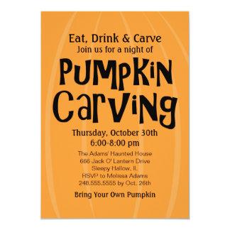 Pumpkin Carving Party | Halloween Card
