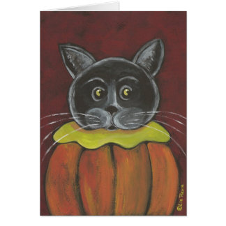 """Pumpkin Cat"" Card"
