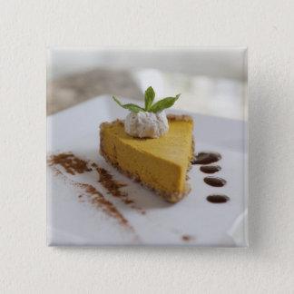 Pumpkin Cheesecake 2 Inch Square Button
