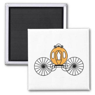 Pumpkin Colored Coach Magnet
