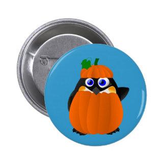 Pumpkin Costume Halloween Penguin 2 Inch Round Button