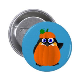 Pumpkin Costume Halloween Penguin Button