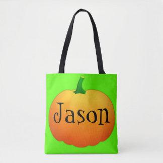 Pumpkin Customizable Tote Bag
