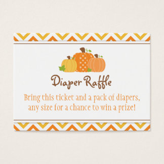 Pumpkin Diaper Raffle Ticket