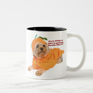 Pumpkin Dog! Two-Tone Coffee Mug