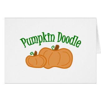 Pumpkin Doodle Greeting Card